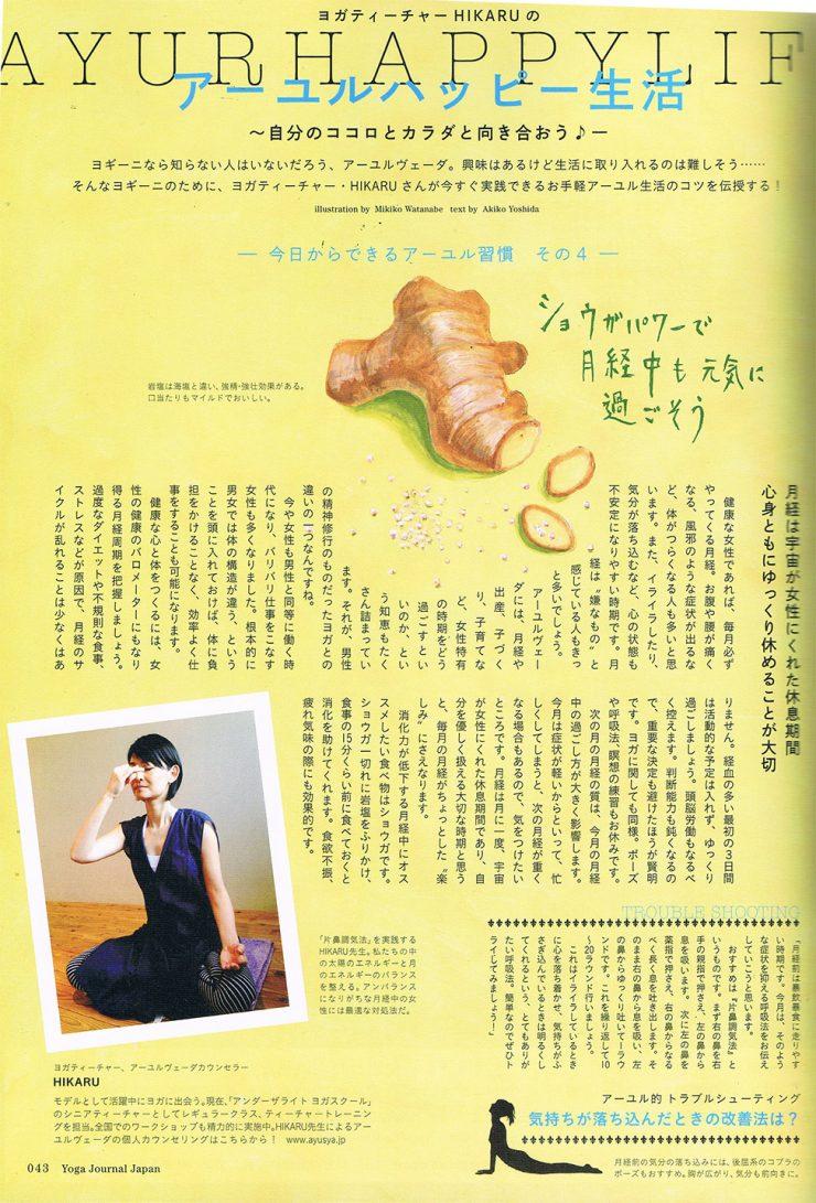 食品のイラスト制作/ヨガ雑誌01