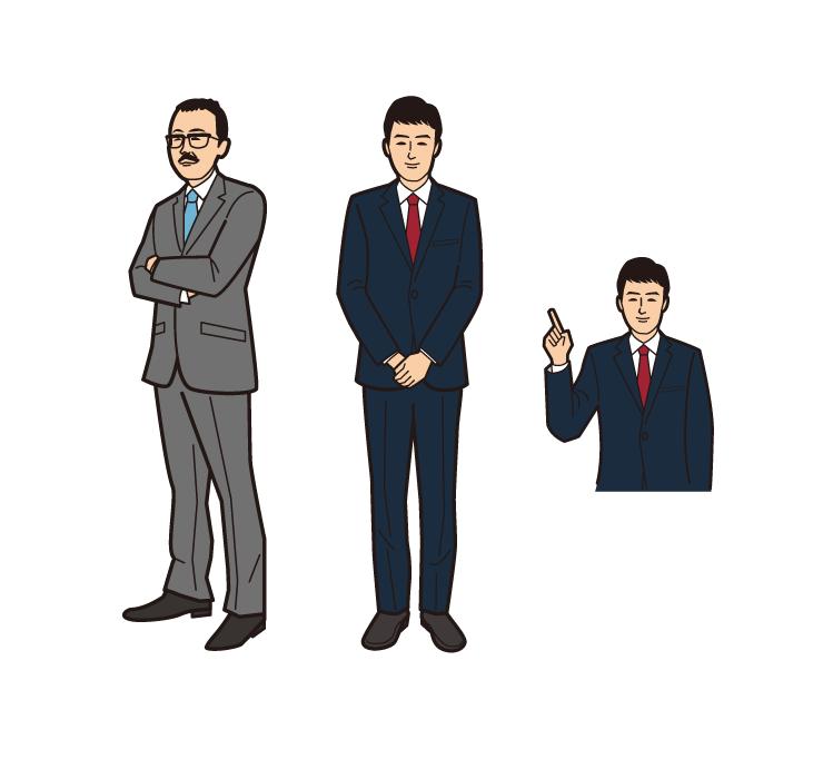 ビジネスマンのイラスト制作01