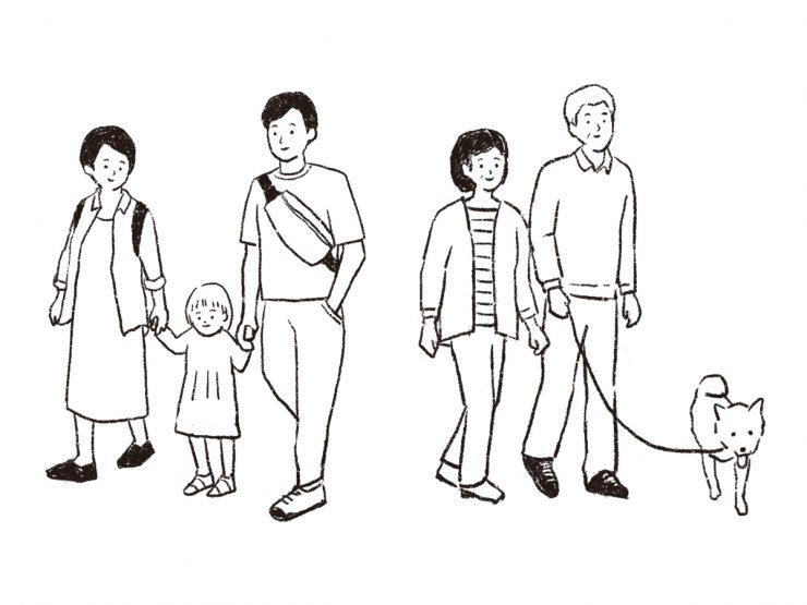 吉祥寺の家族連れ